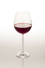 Wine glass on the white background