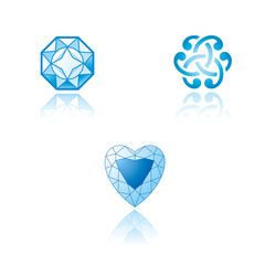 A set of graphic symbols on jewelry theme