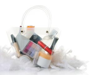 borsetta con cosmetici