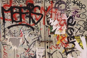Graffiti in der Innenstadt von Barcelona - Spanien