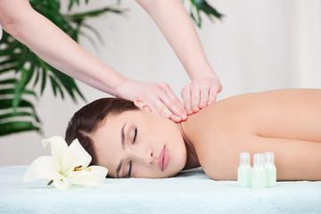 Woman on shoulder massage