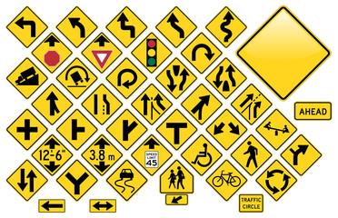 Road Sign Set #3 - Warning
