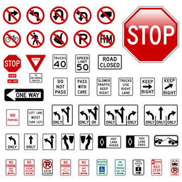 Road Sign Set #1 - Regulatory