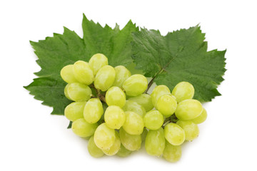 wet grape on white background
