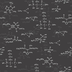Chemical formulas seamless pattern