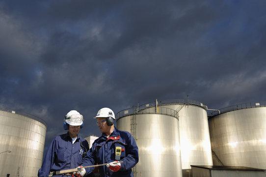 oil industrial workers