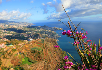 View over Funchal, Madeira Island from Carbo Girao
