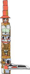 One Hat Totem Pole