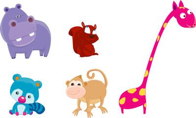 safari animals set