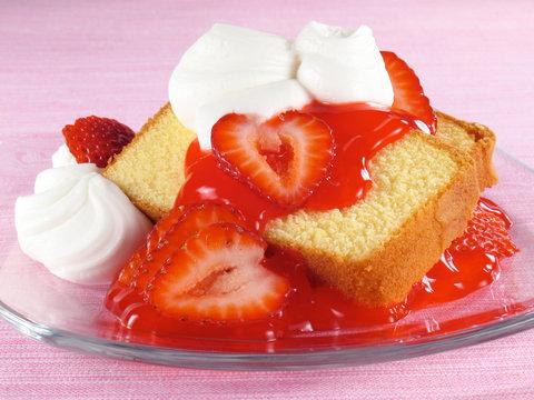 Pound Cake, Strawberries, & Cream