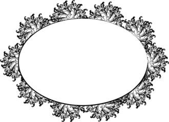 Runder Rahmen mit Blüten