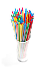 Many cocktail straws