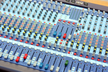 Sound board mixer fragment