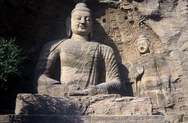 Sitzender Budda,Yungang Hölen,Shanxi,China