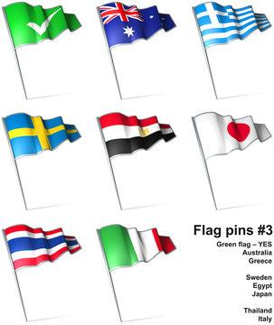 Flag pins 3
