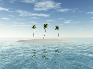 Eine kleine Insel