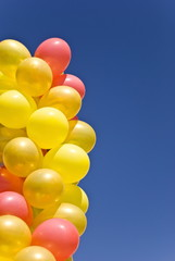 Group of balloons in the sky