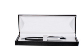 Pen in box with clipping path isolated