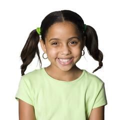 Latino girl smiling