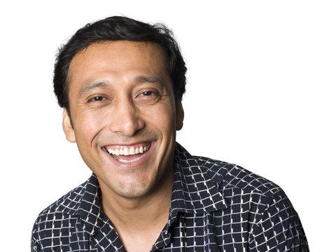 portrait of Latino man smiling