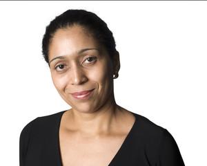 Latino woman smiling