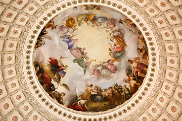 Capitol Building Rotunda dome ceiling