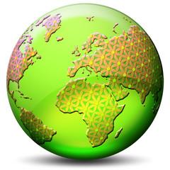 Globo Ecologia-Ecological Earth-Monde Ecologique