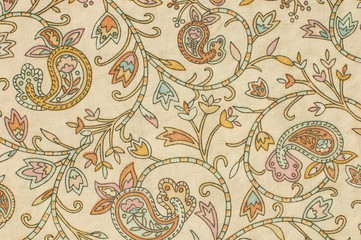printed paisley fabric background