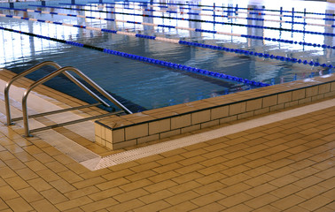 Inside of a clear junior sport swimming pool