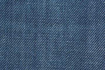 Close-up shot of blue denim
