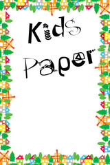 Vector Paper - Child or kids like doodle houses drawing