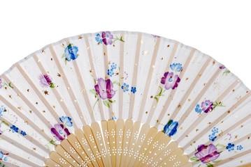 asian fan with flowers