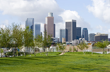 Fotomurales - Los Angeles Skyline in Early Morning