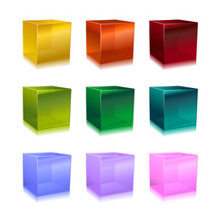modern glass cubes