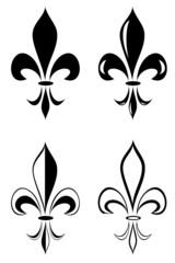 A Fleur de lis tribal tattoo set