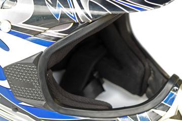 Fototapete - casque bleu avec visière