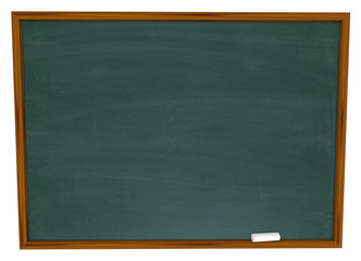 Write Your Message on Blank Chalkboard