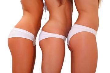 In white underwear