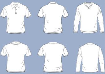 Set of shirt templates