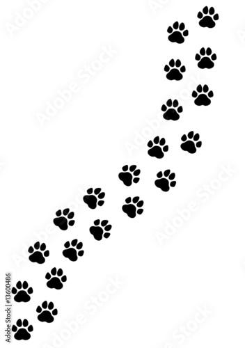 paw print trail clip art