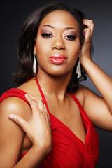 Beautiful African-American girl.3.