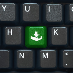 """Download"" key on keyboard (green)"