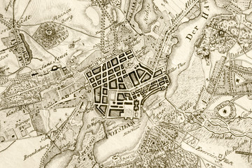 Alte Typographische Karte. Fragment