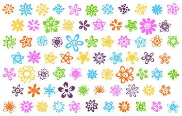 74 sketchy flowers