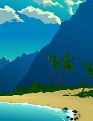 Tropical Island Mountain