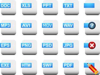 Cubic File Icon Set