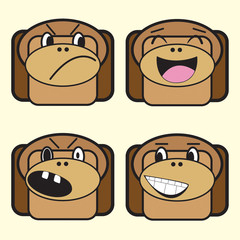 four monkeys