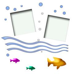 fishy scrapbook page