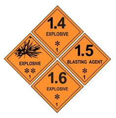 Explosive Warning Labels