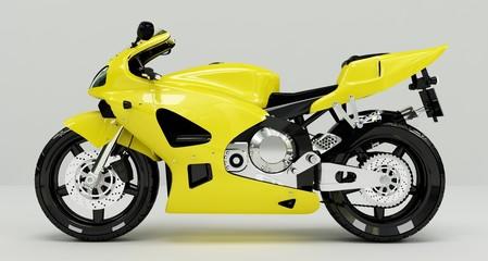 Keuken foto achterwand Motorfiets Yellow Beast